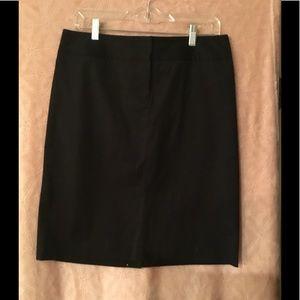 J. Crew Black Skirt With Spandex